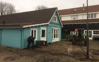 Verbouwing/renovatie Blauwe Huis naar Chalet gestart !
