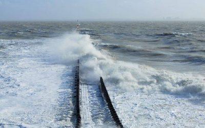 Eerste storm van het jaar in zeeland